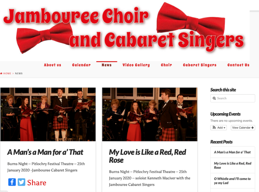 Jambouree Choir and Cabaret Singers